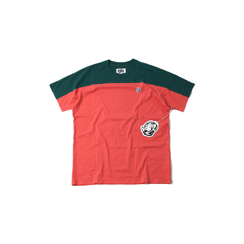 BB SPACE S/S KNIT TEE (ROSE/GREEN)